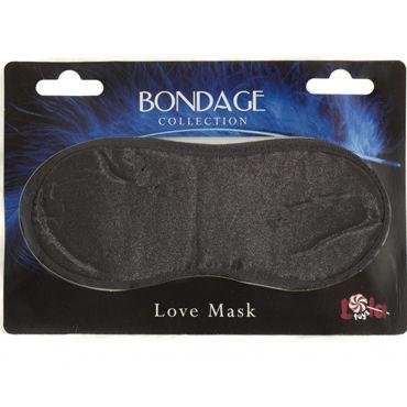 Lola Toys Bondage Love Mask, черная Маска на глаза lola toys open mouth mask черная маска c отверстием для рта