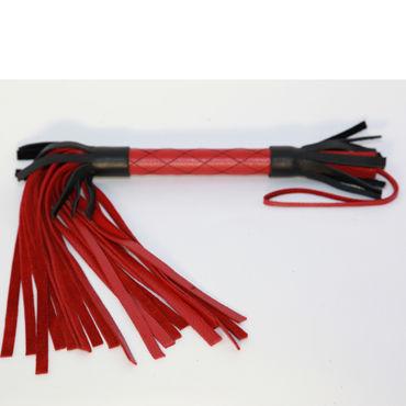 BDSM Арсенал многохвостая плеть, красно-черная С узором на рукоятке мастурбатор svakom zemalia marshmallow голубой