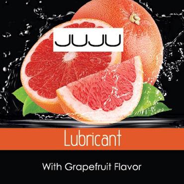 JuJu Lubricant Grapefruit Съедобный Лубрикант, саше 3мл Со вкусом грейпфрута съедобный гель лубрикант lick it vanillel ваниль 50 мл