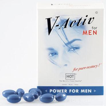 Hot V-Activ For Men, 20 капсул Для улучшения потенции узкие черные наручники
