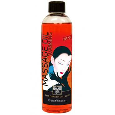Shiatsu Warming Massage Oil, 250мл Массажное масло разогревающее shiatsu luxury body oil strawberry 100 vk а