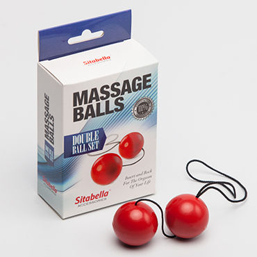 Sitabella Massage Balls Double Ball Set, красные