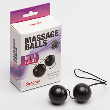 Sitabella Massage Balls Double Ball Set, черные