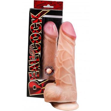 Bioclon RealCock Фаллоимитатор Гигант 26см, телесный С мошонкой чулки baci lingerie five star french maid высокие в сетку черные 42 46