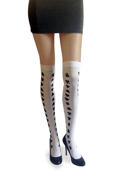 Dupu Чулки Карточный мир Для сказочного образа Алисы костюм готический алисы 38 40
