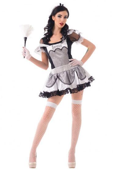 Le Frivole Старательная домработница Платье, головной убор, перчатки, чулки le frivole соблазнительная стюардесса платье чулки перчатки и пилотка