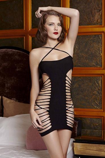 Le Frivole Платье с вырезами На тонких бретельках колготки electric lingerie с розовой шнуровкой черные os