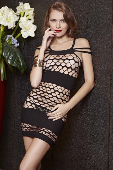 Le Frivole Платье-сетка В полоску женщина на грани невного срыва