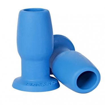 Erasexa анальная втулка, голубая Со сквозным отверстием erotic fantasy трубочка для напитков светящаяся оригинальная для тематических вечеринок