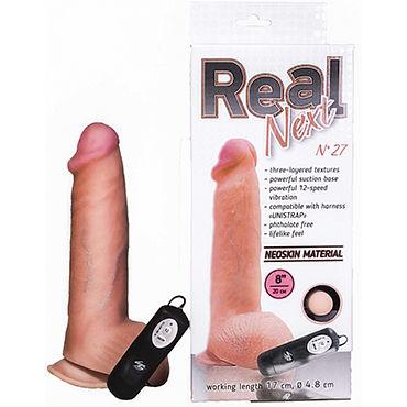 Bioclon Real Next №27 Реалистичный вибратор на присоске, с пультом управления bioclon android ii реалистичный вибратор