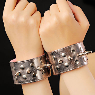 Sitabella BDSM Напульсники, бронзовые С шипами sitabella наручники серебристо голубой с подкладкой из искусственного меха