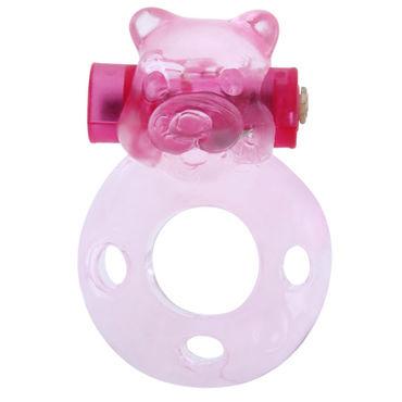 Baile Pink Bear Эрекционное кольцо с вибрацией кольцо эрекционное