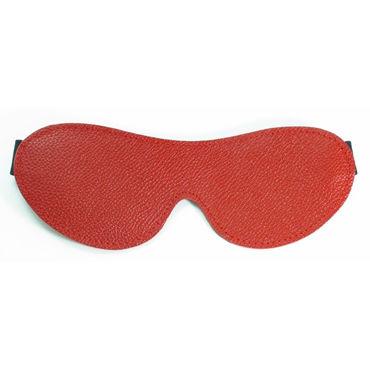 BDSM Арсенал маска на глаза, красная С эластичным ремешком