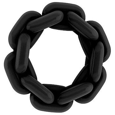 Shots Toys Sono Chain Cockring №4, черное Эрекционное кольцо shots toys ribbed egg черное cs go