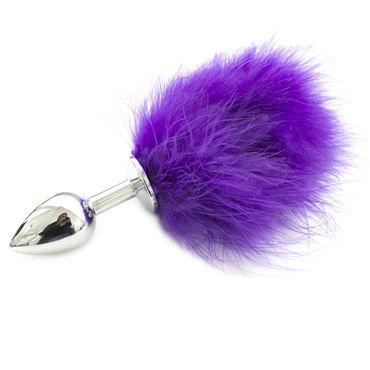 Luxurious Tail Анальная пробка с хвостиком, фиолетовый Металлическая анально вагинальный миостимулятор romeo