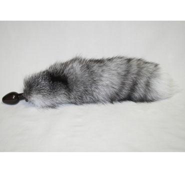 Wild Lust Анальная пробка лисьим хвостом серым, 60 мм Деревянная wild lust анальная пробка 4 см серый с лисьим хвостом