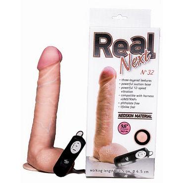 Bioclon Real Next №32 Реалистичный вибратор, в коробке из микрогофры bioglide anal 80 мл гель для анального секса