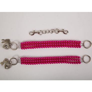 White Label Наножники, красные Жемчужные из трех нитей white label наручники красные жемчужные из трех нитей