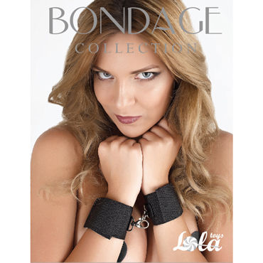 Lola Toys Bondage Collection Wrist Cuffs, черные Наручники увеличенного размера stainless steel bondage bdsm toys leather handcuffs and ankle cuffs restraints with steel pipe spreader bar sex toys for couples