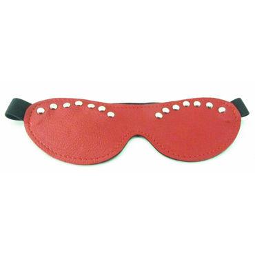 BDSM Арсенал Двухстороння маска, красная С металлическими заклепками 6 beastly маска черно красная