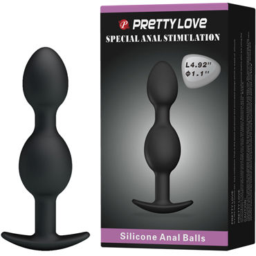 Baile Pretty Love Silicone Anal Balls, черные Анальные шарики анальные шарики tom of finland weighted anal balls