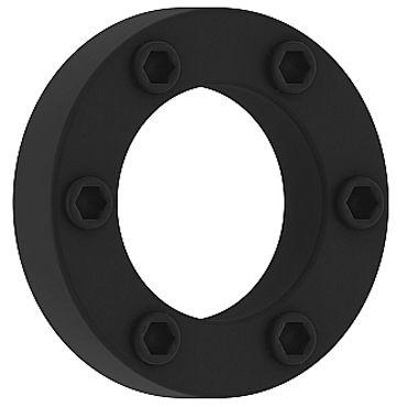 Shots Toys Sono Cockring №41, черное Эрекцион��ое кольцо со стимулирующим рельефом [nel mare ci sono coccodrilli]