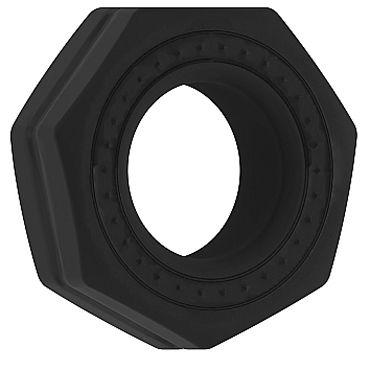 Shots Toys Sono Cockring №43, черное Эрекционное кольцо рельефной формы