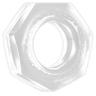 Shots Toys Sono Cockring №43, прозрачное Эрекционное кольцо рельефной формы shots toys cockring magnet черный эрекционное виброкольцо c шариком