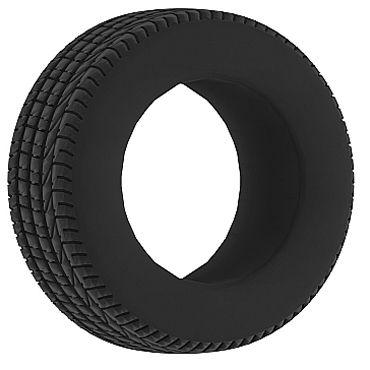 Shots Toys Sono Cockring №44, черное Эрекционное кольцо в форме шины