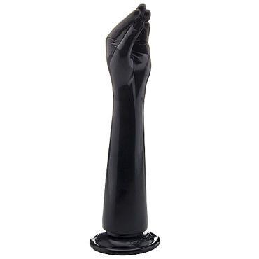 Shots Toys Realrock Realistic Hand, черная Рука для фистинга giant family horny hand palm рука фаллоимитатор для фистинга