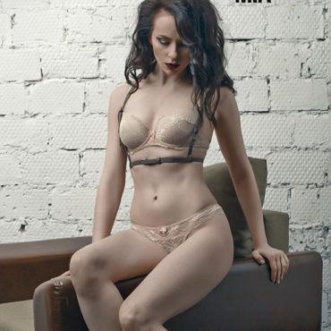 Rebelts Mia, коричневая Изящная портупея hustler lingerie трусики слипы wanna ride с надписью из страз