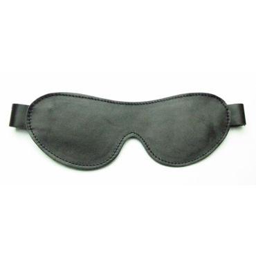 BDSM Арсенал маска на глаза, черная С кожаным ремешком bdsm арсенал стек королевский черный из прочного сердечника