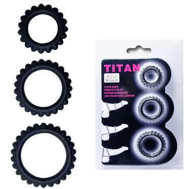 Baile Titan, черный Набор из трех эрекционных колец topco sex please come on love ring trio набор из трех эрекционных колец