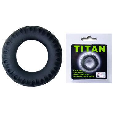 Baile Titan Покрышка, черное Рельефное эрекционное кольцо эреционное кольцо titan