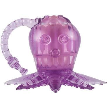 White Label Octopus, фиолетовый Вибростимулятор осьминог desire de luxe platinum aria 30мл духи с феромонами унисекс