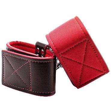 Ouch! Reversible Ankle Cuffs, черно-красные Наножники на липучках ouch reversible collar with wrist ankle cuffs черная