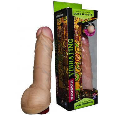 Bioclon Human Form 19 см, телесный Вибромассажёр реалистичный т увеличение члена диаметр от 6 см