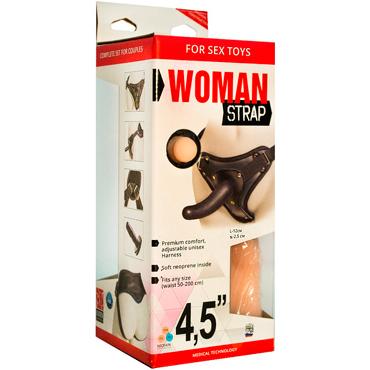 Bioclon Woman Strap 4,5, черный Женский пояс с насадками ovo b2 эрекционное кольцо красное с виброэлементом стимулирующее мошонку