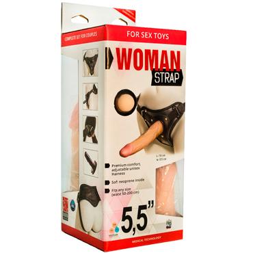 Bioclon Woman Strap 5,5, телесный Женский пояс с насадками bioclon uni strap с корсетом универсальный пояс для страпонов