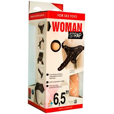 Bioclon Woman Strap 6,5, черный Женский пояс с насадками bioclon uni strap с корсетом универсальный пояс для страпонов