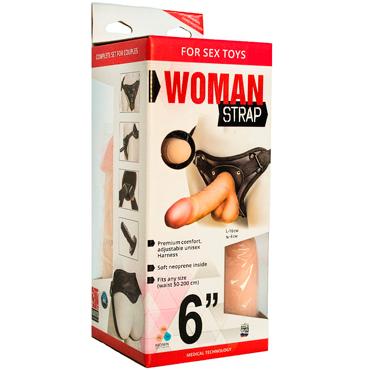 Bioclon Woman Strap 6, телесный Женский пояс с насадками ф ovo a1 эрекционное кольцо черное