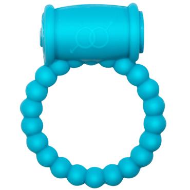 Lola Toys Rings Drums, голубое Эрекционное кольцо с вибрацией durex play flames эрекционное кольцо с вибрацией