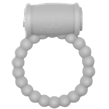 Lola Toys Rings Drums, белое Эрекционное кольцо с вибрацией shots toys sono chain cockring 4 черное эрекционное кольцо