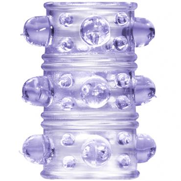 Lola Toys Rings Armour, фиолетовая Стимулирующая насадка на пенис анальные вибраторы материал латекс