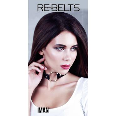Rebelts Iman, черный Ошейник - расширитель для рта лаковый rebelts sindy черно серебристые ошейник с зеркальными элементами
