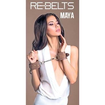 Rebelts Maya, коричневые Наручники из кожи rebelts pepe чокер бабочка
