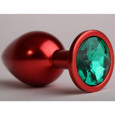 4sexdream Анальная пробка малая, красная С зеленым стразом bruno фиолетовый вибростимулятор со встроенным аккумулятором