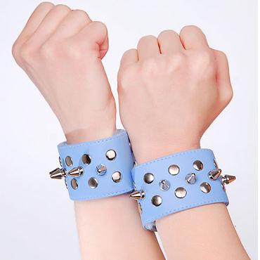Sitabella напульсники, голубые С металлическими заклепками корсет и стринги joana s m