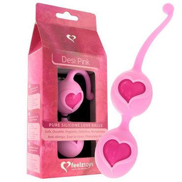 FeelzToys Desi Pink Вагинальные шарики в силиконовой оболочке gift set of clone a willy hot pink and silver bullet