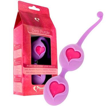 FeelzToys Desi Purple, фиолетовые Вагинальные шарики в силиконовой оболочке feelztoys cogilia анальная цепочка